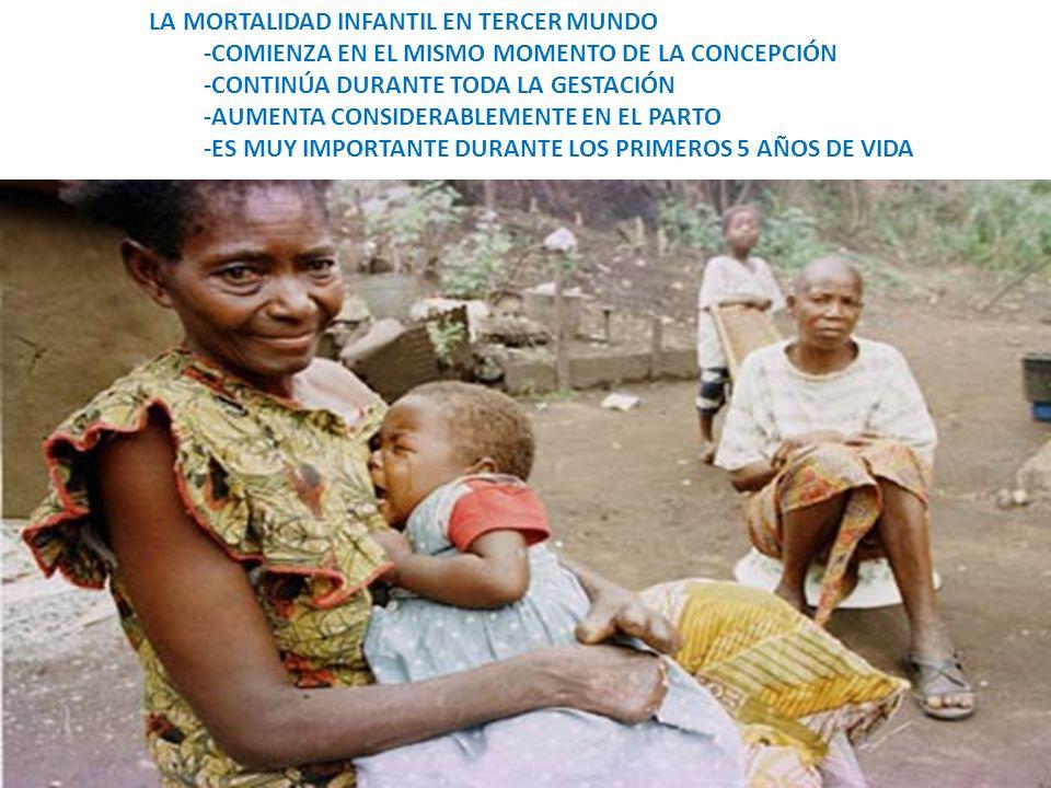 LA MORTALIDAD INFANTIL EN TERCER MUNDO -COMIENZA EN EL MISMO MOMENTO DE LA CONCEPCIÓN -CONTINÚA DURANTE TODA LA GESTACIÓN -AUMENTA CONSIDERABLEMENTE E
