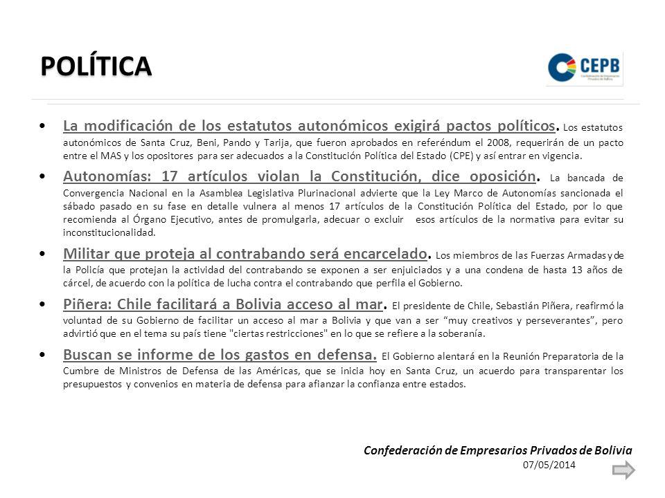 POLÍTICA La modificación de los estatutos autonómicos exigirá pactos políticos.