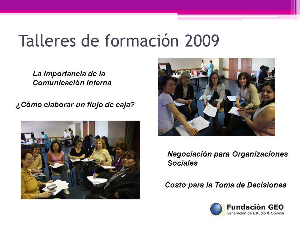 La Importancia de la Comunicación Interna ¿Cómo elaborar un flujo de caja? Negociación para Organizaciones Sociales Costo para la Toma de Decisiones T
