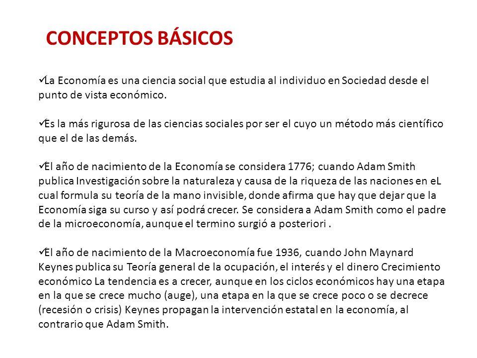 La Economía es una ciencia social que estudia al individuo en Sociedad desde el punto de vista económico.