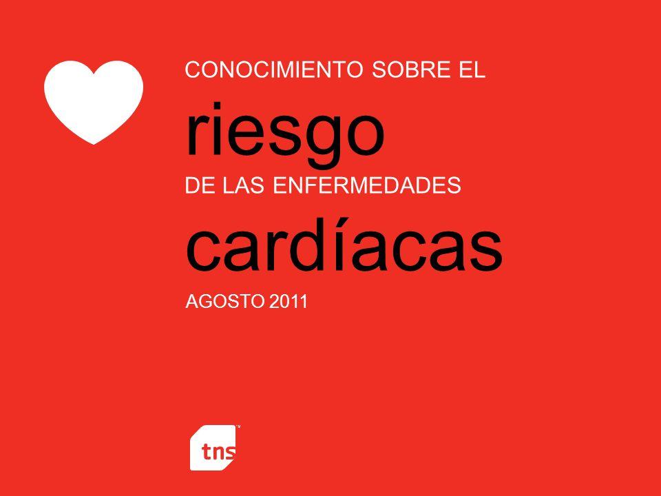 CONOCIMIENTO SOBRE EL riesgo DE LAS ENFERMEDADES cardíacas AGOSTO 2011