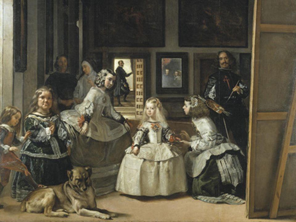 La gama cromática empleada por Velázquez en esta obra es limitada y contenida, predominan los grises y los ocres, no obstante, aplica colores fuertes