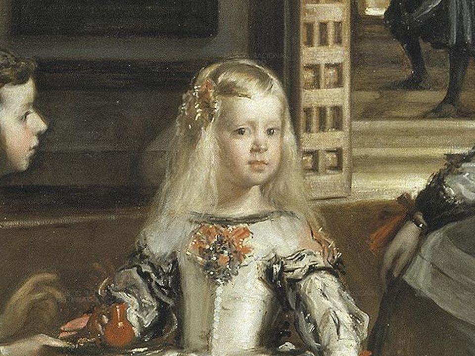 La pintura se terminó en 1656, fecha que encaja con la edad que aparenta la infanta Margarita (unos cinco años). Felipe IV y doña Mariana solían entra