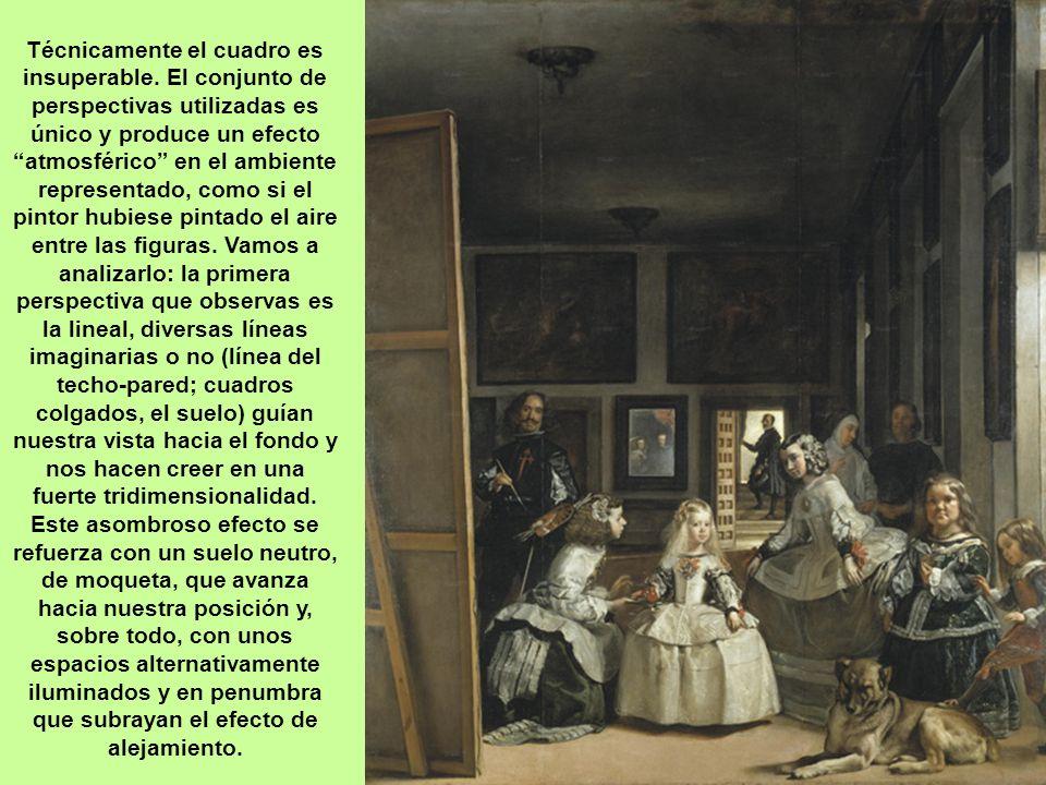 La estancia es amplia y de techo alto, sería el estudio del pintor y por eso hay grandes cuadros por las paredes (identificados en la actualidad). Exi