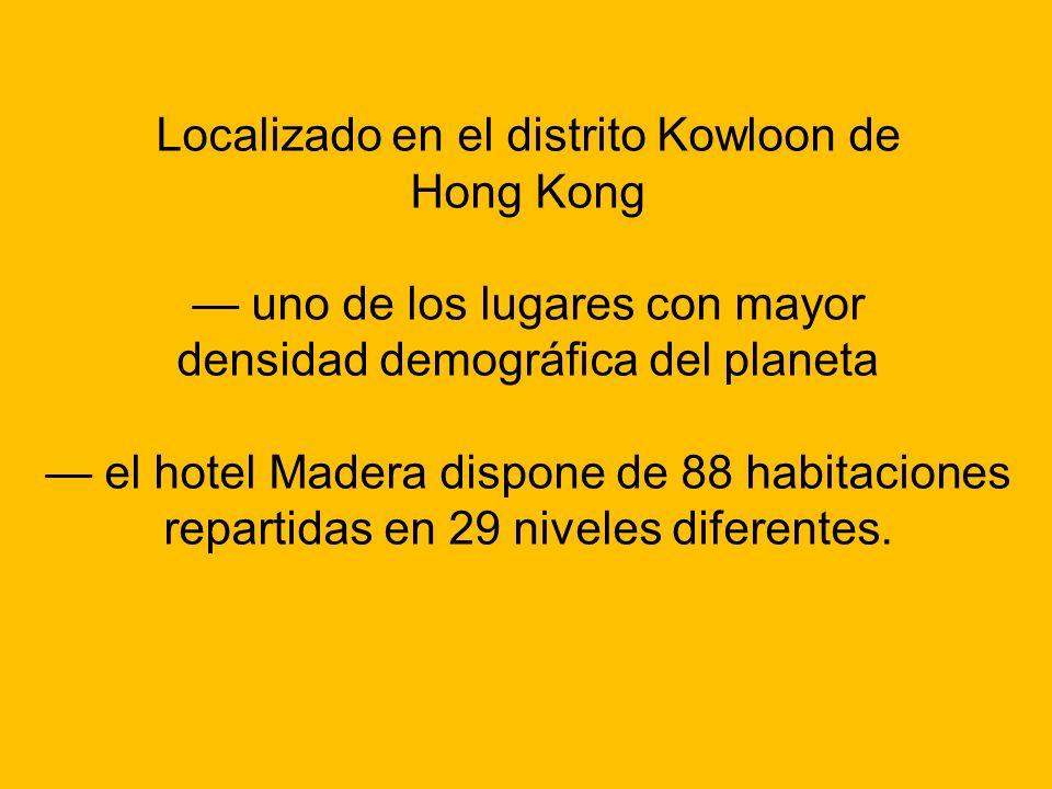 Localizado en el distrito Kowloon de Hong Kong uno de los lugares con mayor densidad demográfica del planeta el hotel Madera dispone de 88 habitacione