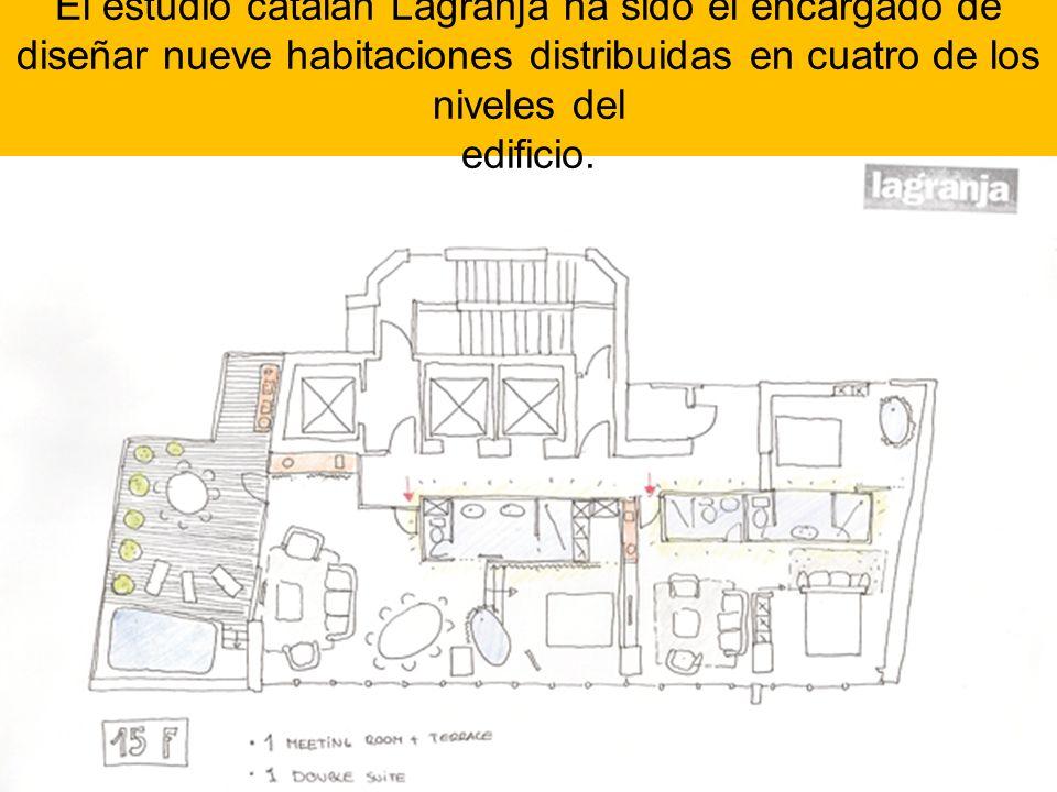 El estudio catalán Lagranja ha sido el encargado de diseñar nueve habitaciones distribuidas en cuatro de los niveles del edificio.