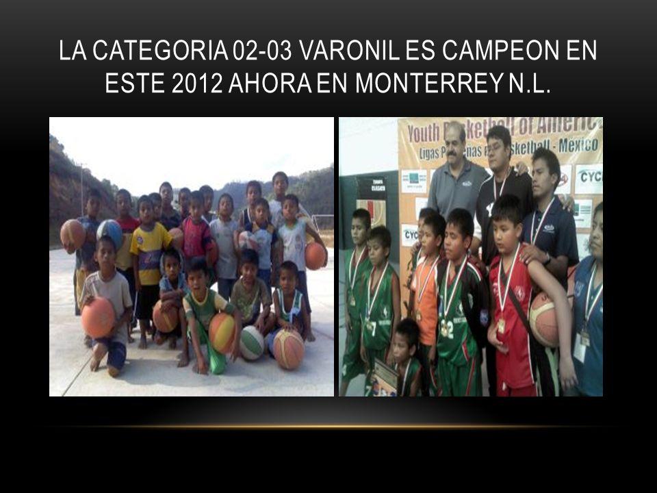 LA CATEGORIA 02-03 VARONIL ES CAMPEON EN ESTE 2012 AHORA EN MONTERREY N.L.