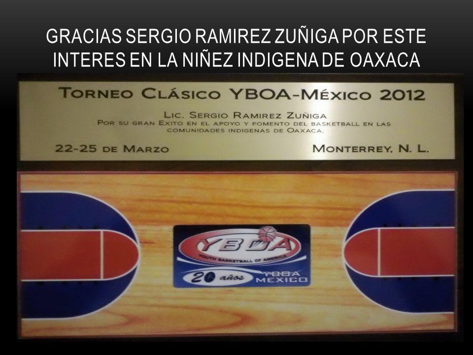 GRACIAS SERGIO RAMIREZ ZUÑIGA POR ESTE INTERES EN LA NIÑEZ INDIGENA DE OAXACA