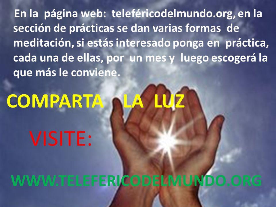 En la página web: teleféricodelmundo.org, en la sección de prácticas se dan varias formas de meditación, si estás interesado ponga en práctica, cada una de ellas, por un mes y luego escogerá la que más le conviene.