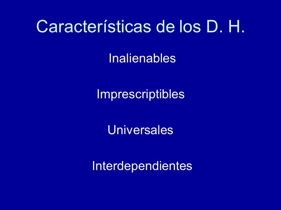 Dimensiones de los D.H.