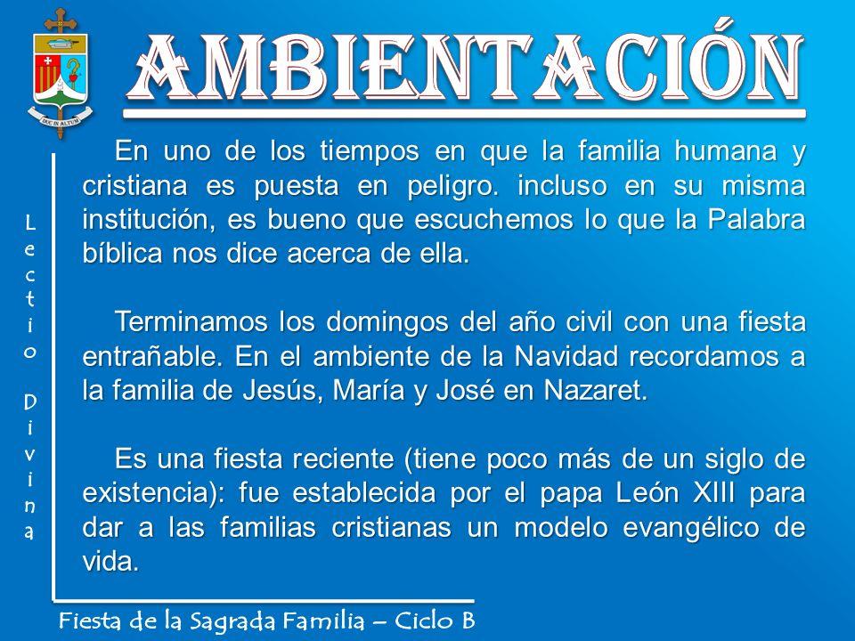 En uno de los tiempos en que la familia humana y cristiana es puesta en peligro. incluso en su misma institución, es bueno que escuchemos lo que la Pa