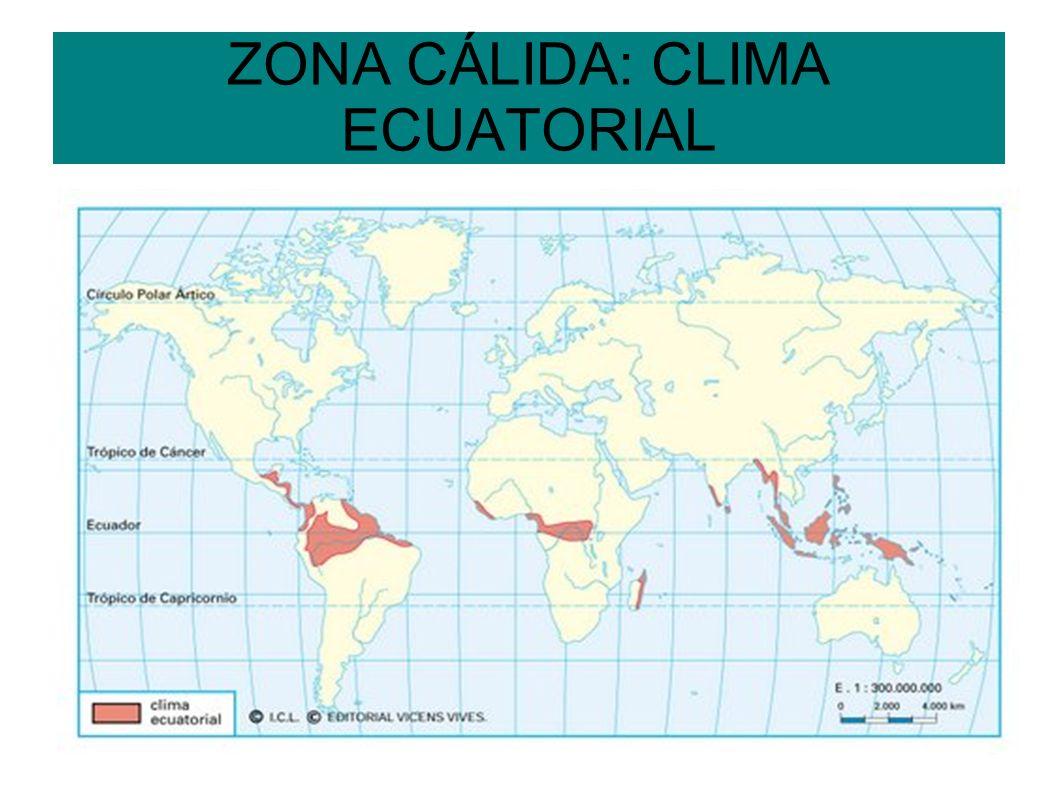 ZONA CÁLIDA: CLIMA ECUATORIAL