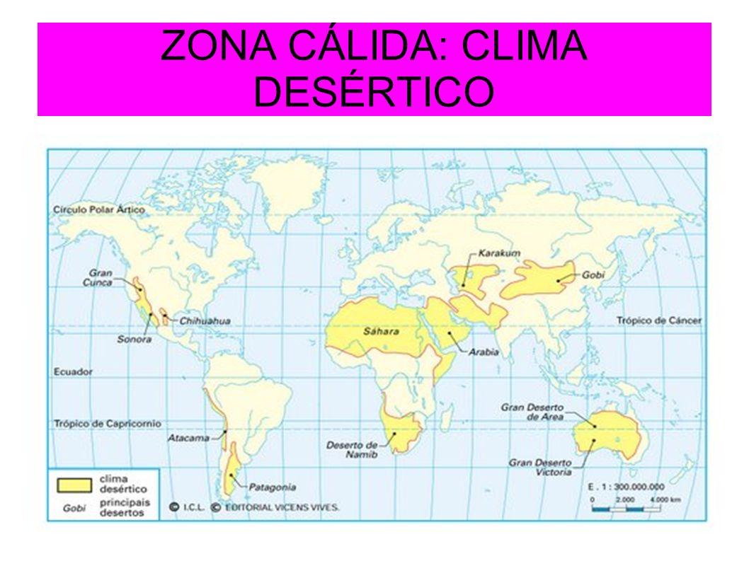 ZONA CÁLIDA: CLIMA DESÉRTICO