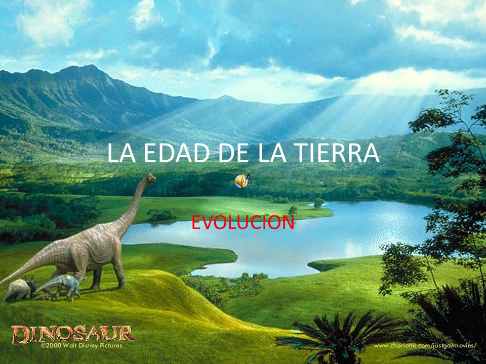 LA EDAD DE LA TIERRA EVOLUCION