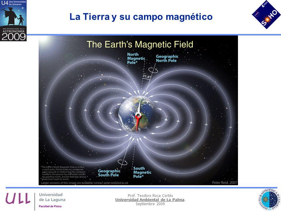 Prof. Teodoro Roca Cortés Universidad Ambiental de La Palma. Septiembre 2009 La Tierra y su campo magnético