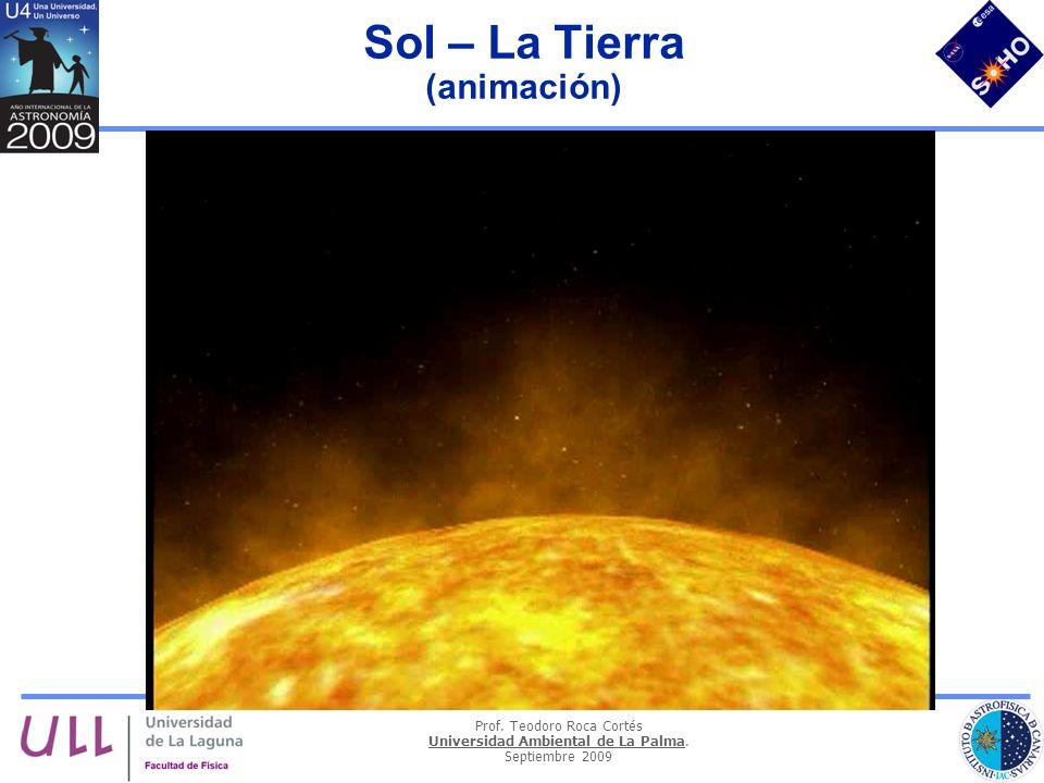 Prof. Teodoro Roca Cortés Universidad Ambiental de La Palma. Septiembre 2009 Sol – La Tierra (animación)