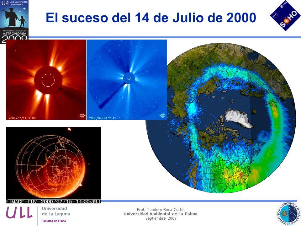 Prof. Teodoro Roca Cortés Universidad Ambiental de La Palma. Septiembre 2009 El suceso del 14 de Julio de 2000