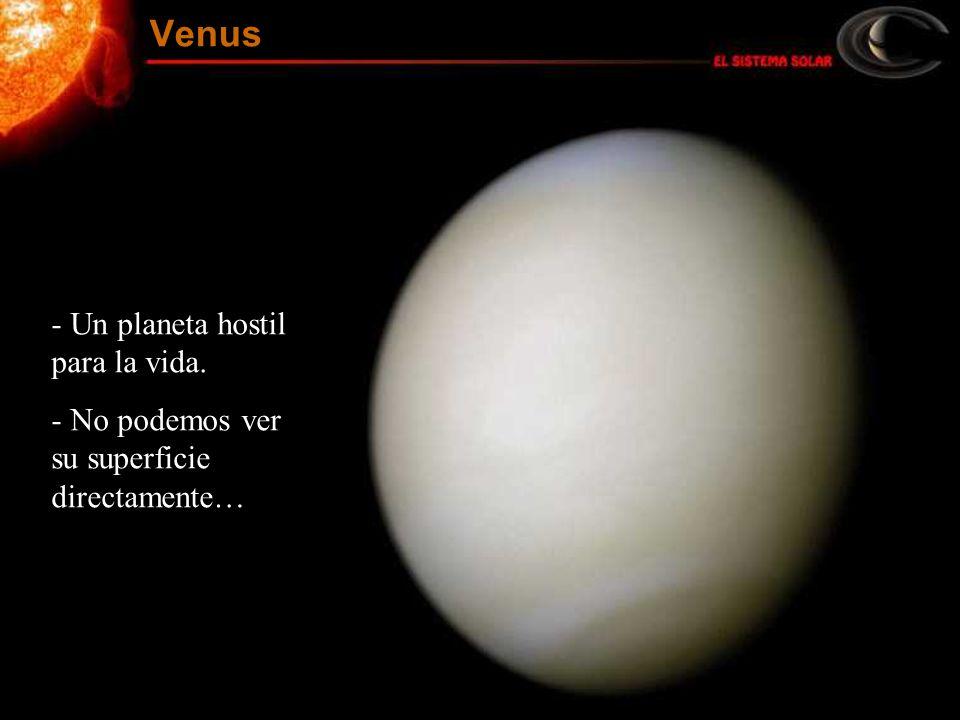 - Un planeta hostil para la vida. - No podemos ver su superficie directamente… Venus