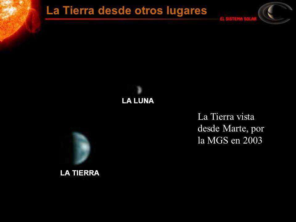 La Tierra vista desde Marte, por la MGS en 2003 La Tierra desde otros lugares LA TIERRA LA LUNA