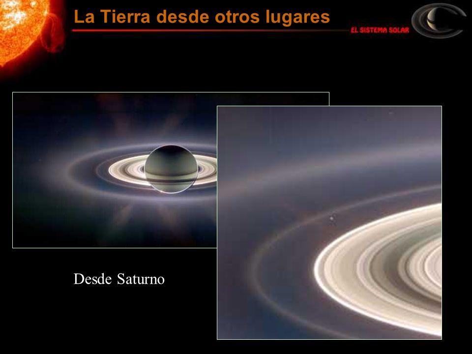 Desde Saturno La Tierra desde otros lugares