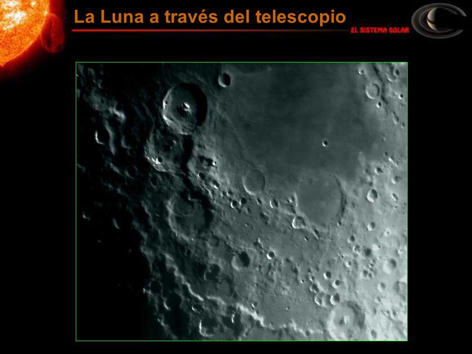 La Luna a través del telescopio
