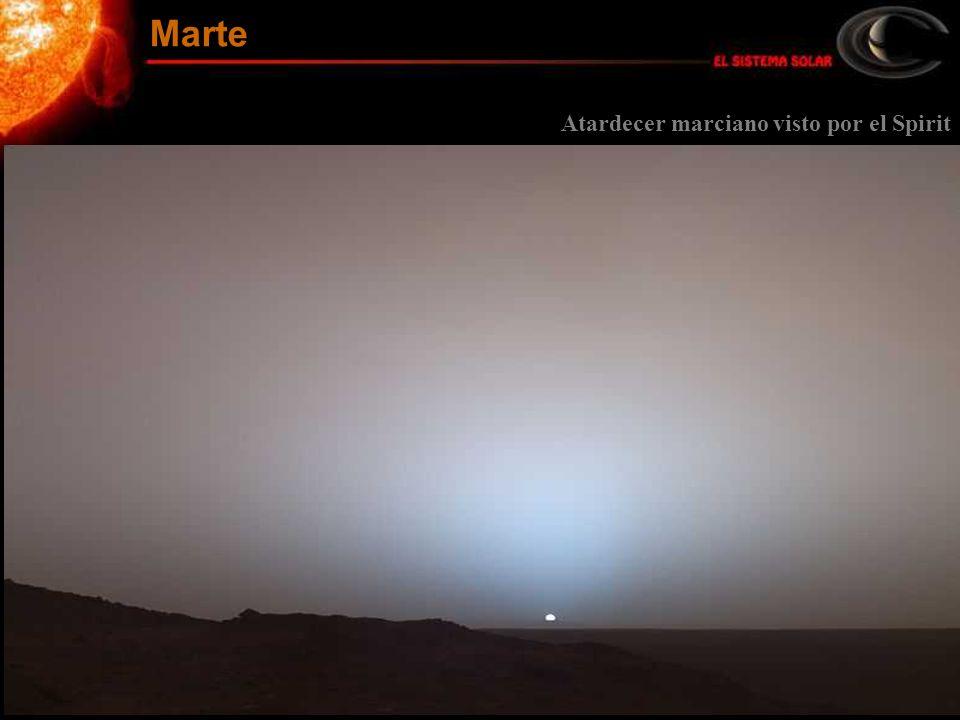 Atardecer marciano visto por el Spirit Marte
