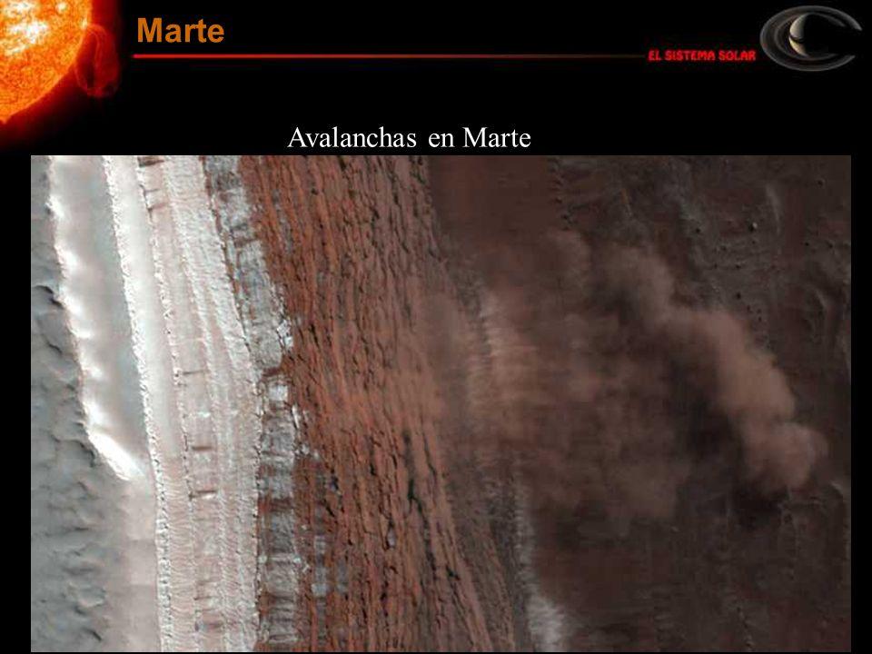 Avalanchas en Marte Marte