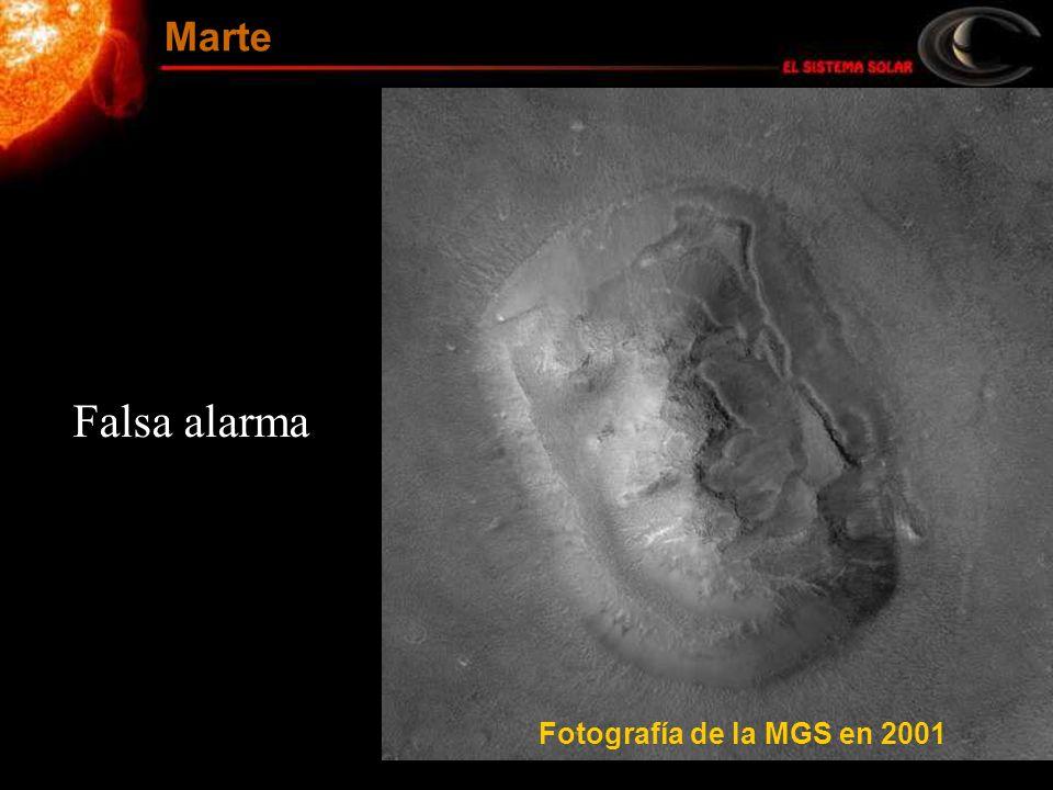 Falsa alarma Fotografía de la MGS en 2001 Marte