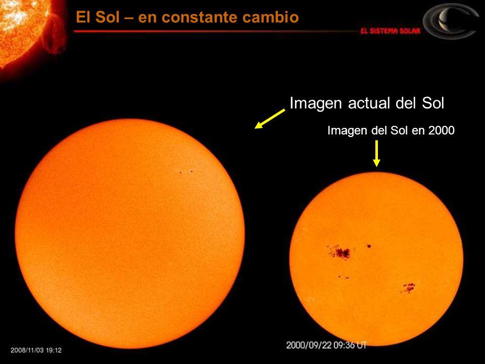 Imagen actual del Sol Imagen del Sol en 2000 El Sol – en constante cambio