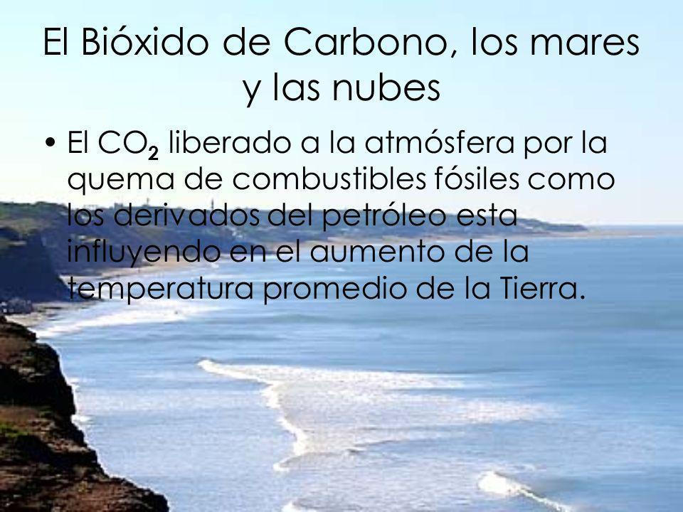 El Bióxido de Carbono, los mares y las nubes El CO 2 liberado a la atmósfera por la quema de combustibles fósiles como los derivados del petróleo esta