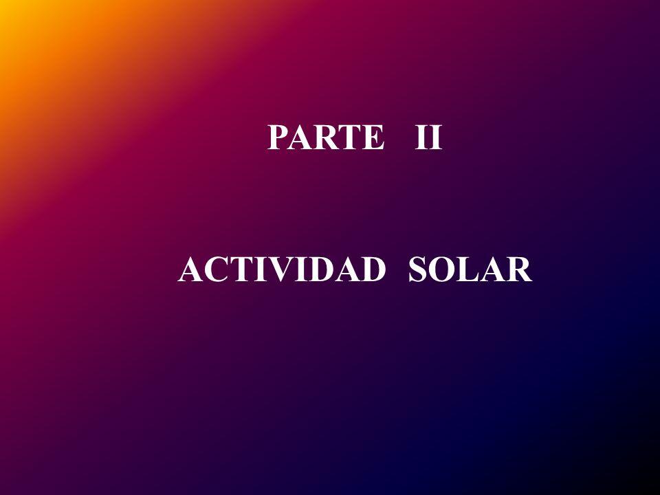 PARTE II ACTIVIDAD SOLAR