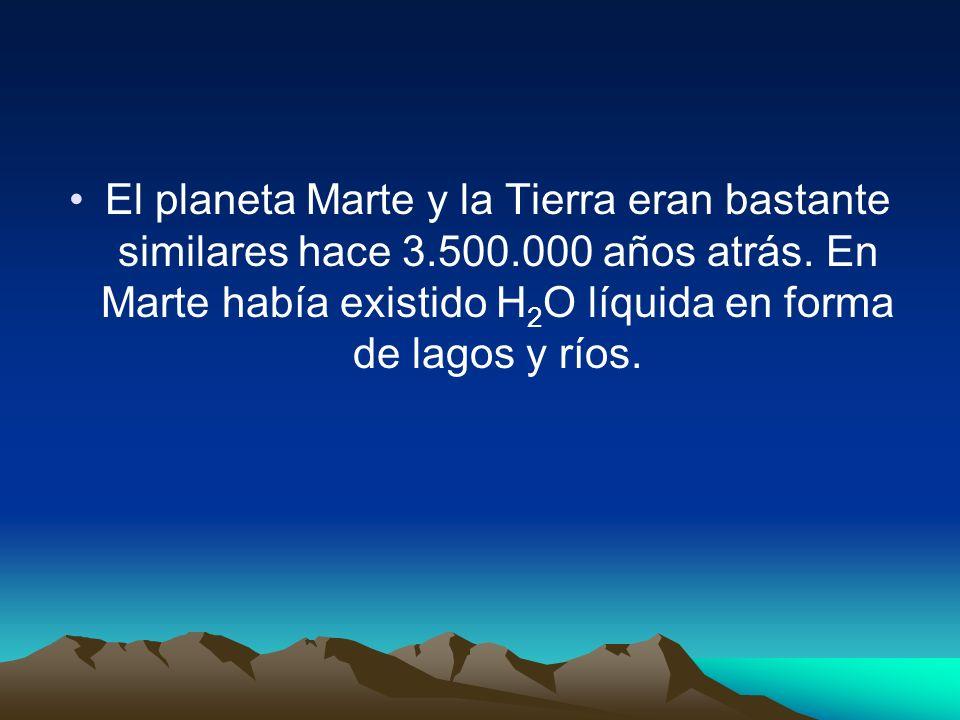 El planeta Marte y la Tierra eran bastante similares hace 3.500.000 años atrás.