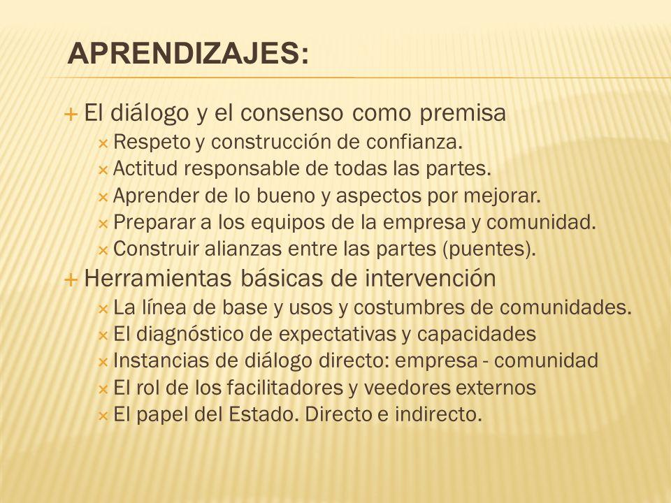 El diálogo y el consenso como premisa Respeto y construcción de confianza.