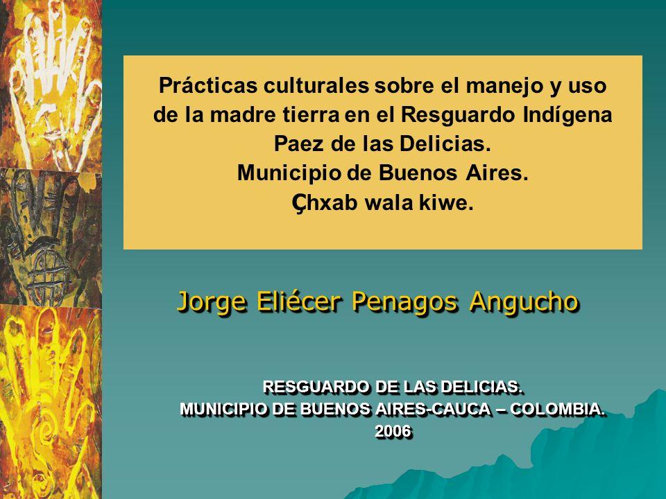 Prácticas culturales sobre el manejo y uso de la madre tierra en el Resguardo Indígena Paez de las Delicias. Municipio de Buenos Aires. Ç hxab wala ki