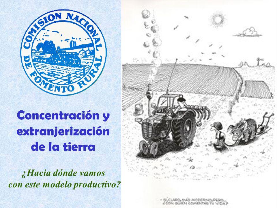 Concentración y extranjerización de la tierra ¿Hacia dónde vamos con este modelo productivo?