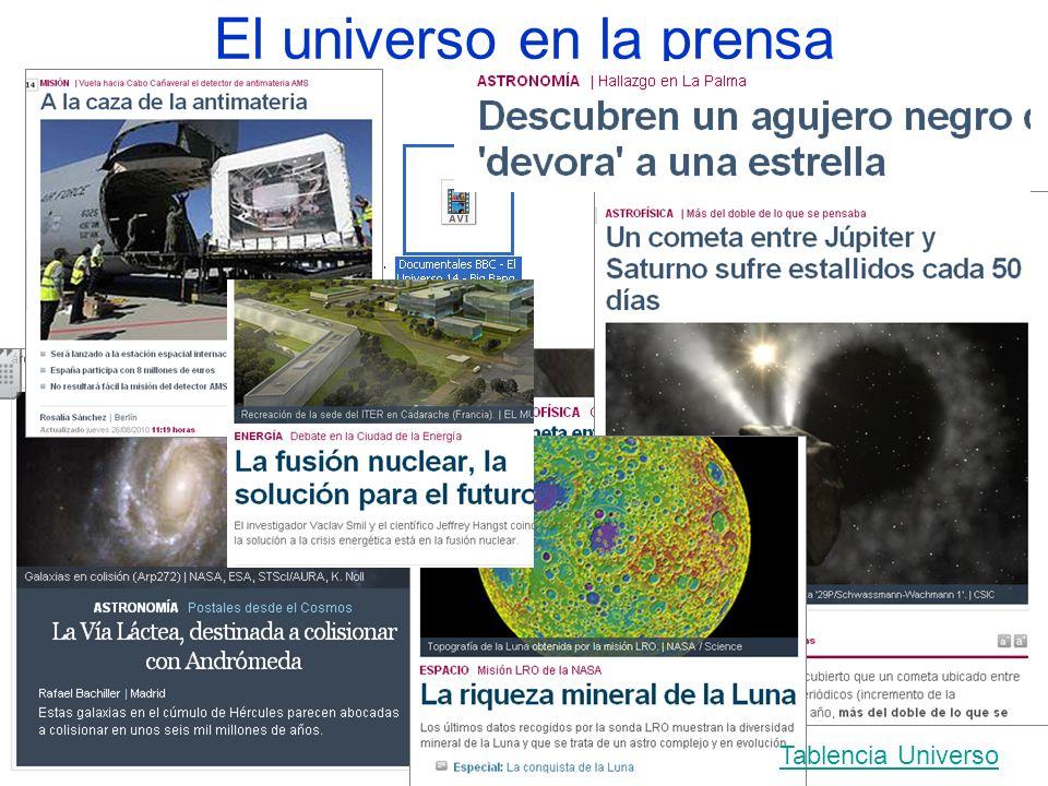 El universo en la prensa Tablencia Universo
