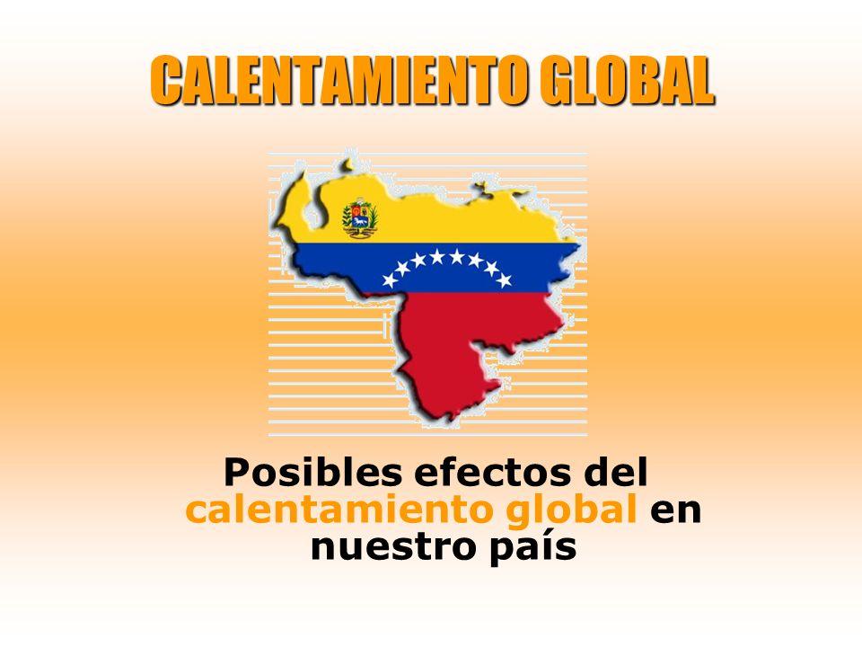 CALENTAMIENTO GLOBAL Posibles efectos del calentamiento global en nuestro país