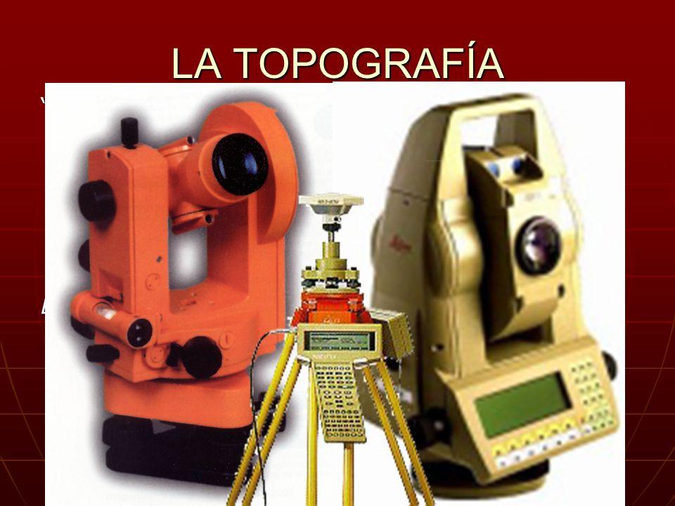 LA TOPOGRAFÍA Es la técnica que estudia los instrumentos y el conjunto de principios y procedimientos que tienen por objeto la representación gráfica,