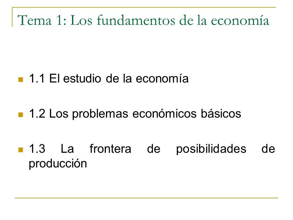 Macroeconomía Algunas cuestiones propias de la macroeconomía Producción, precios y empleo del país Consumo nacional Inversión Cantidad de dinero del país y tipos de interés Tipo de cambio de la moneda Los temas 4 (La economía real) y 5 (La economía monetaria) tienen un enfoque macroeconómico