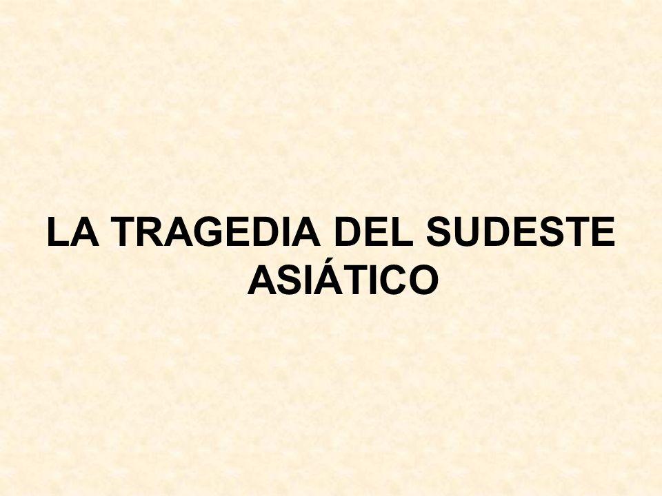 LA TRAGEDIA DEL SUDESTE ASIÁTICO