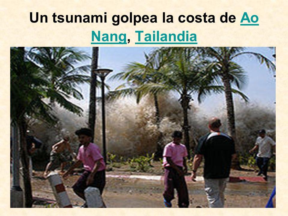 Un tsunami golpea la costa de Ao Nang, TailandiaAo NangTailandia