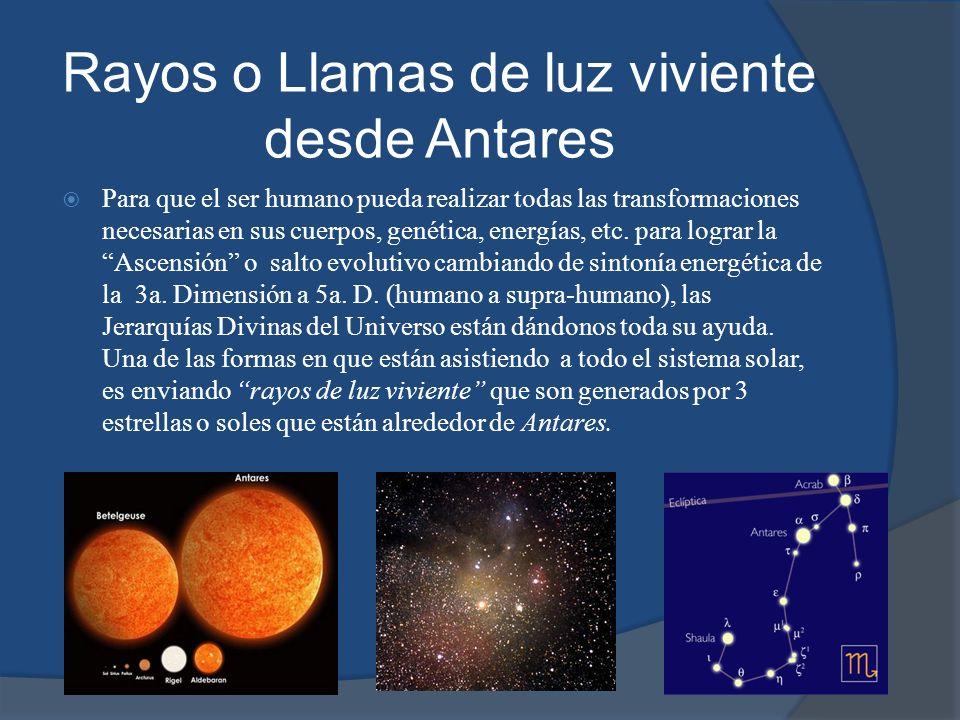 Estas estrellas (soles) en la constelación de Antares son sitemas solares muy evolucionados cuyas humanidades son angélicas.