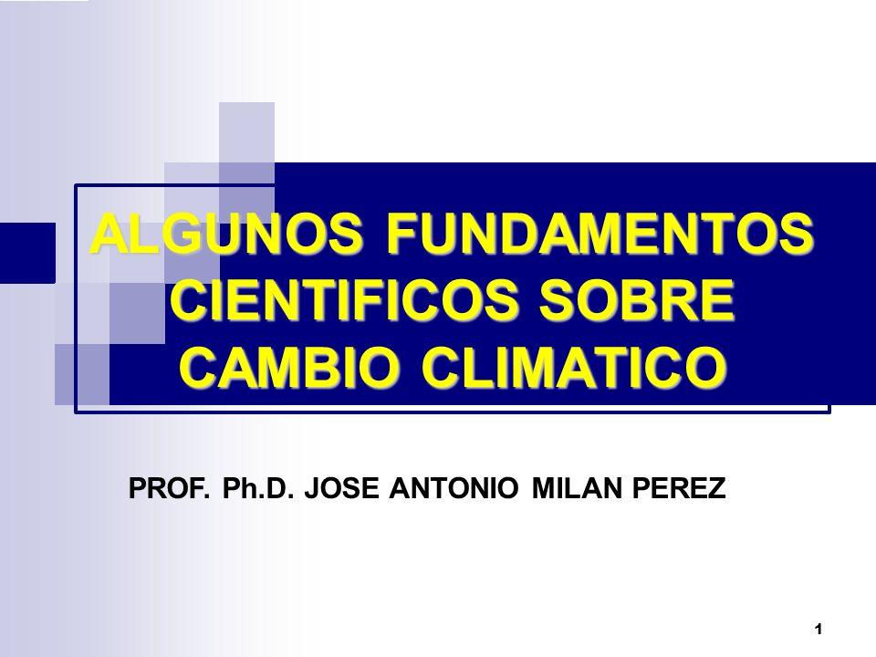 2 Se conoce como Cambio climático a la variación estadísticamente significativa, ya sea de las condiciones climáticas medias o de su variabilidad, que se mantiene durante un período prolongado (generalmente durante más de diez años).