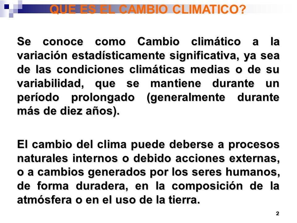23 El cambio climático tiene cinco características distintivas: 1.Está científicamente comprobado (INEQUIVOCO) 2.Es un fenómeno acumulativo 3.Sus efectos son irreversibles 4.De larga manifestación (las emisiones de hoy generan problemas mañana) 5.Es un fenómeno global (no tiene fronteras) HAY QUE PRODUCIR UN CAMBIO CON URGENCIA, SE NECESITA: 1.EN NUESTRA POBLACION: EDUCACION Y CONCIENCIA 2.EN NUESTROS GOBIERNOS E INSTITUCIONES: VOLUNTAD POLITICA Y COMPROMISO