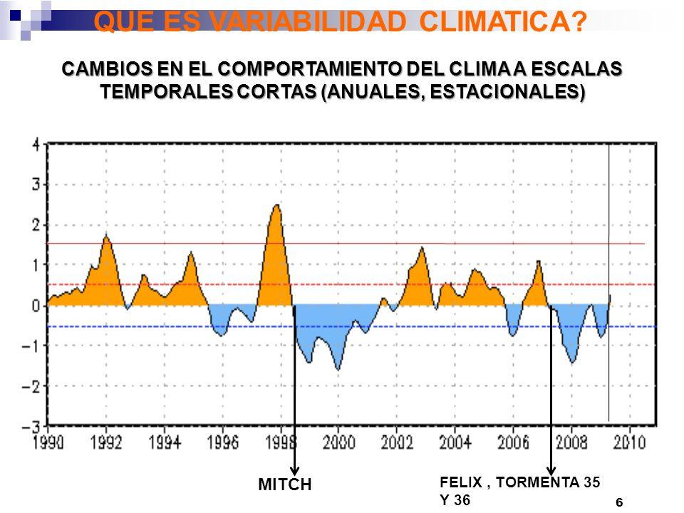 6 QUE ES VARIABILIDAD CLIMATICA.