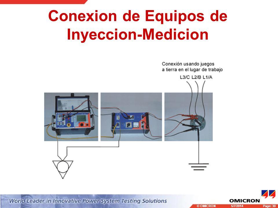 © OMICRONPage: 30 5/7/2014 Conexion de Equipos de Inyeccion-Medicion