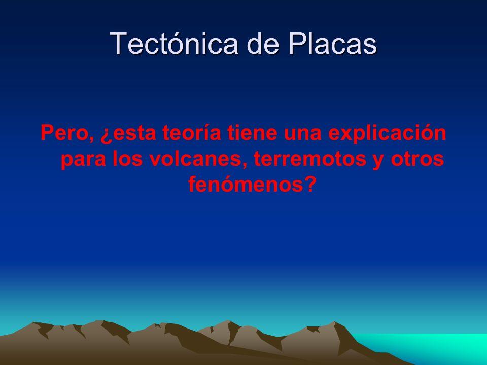 Tectónica de Placas Pero, ¿esta teoría tiene una explicación para los volcanes, terremotos y otros fenómenos?