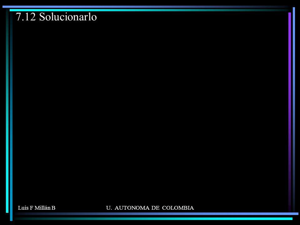 Luis F Millán BU. AUTONOMA DE COLOMBIA 7.12 Solucionarlo