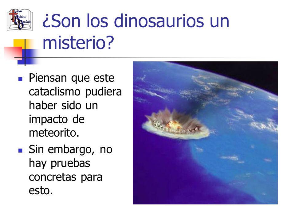 ¿Son los dinosaurios un misterio? Piensan que este cataclismo pudiera haber sido un impacto de meteorito. Sin embargo, no hay pruebas concretas para e