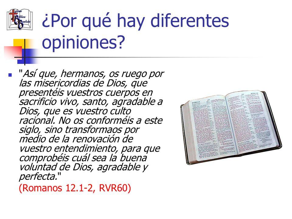 ¿Por qué hay diferentes opiniones?